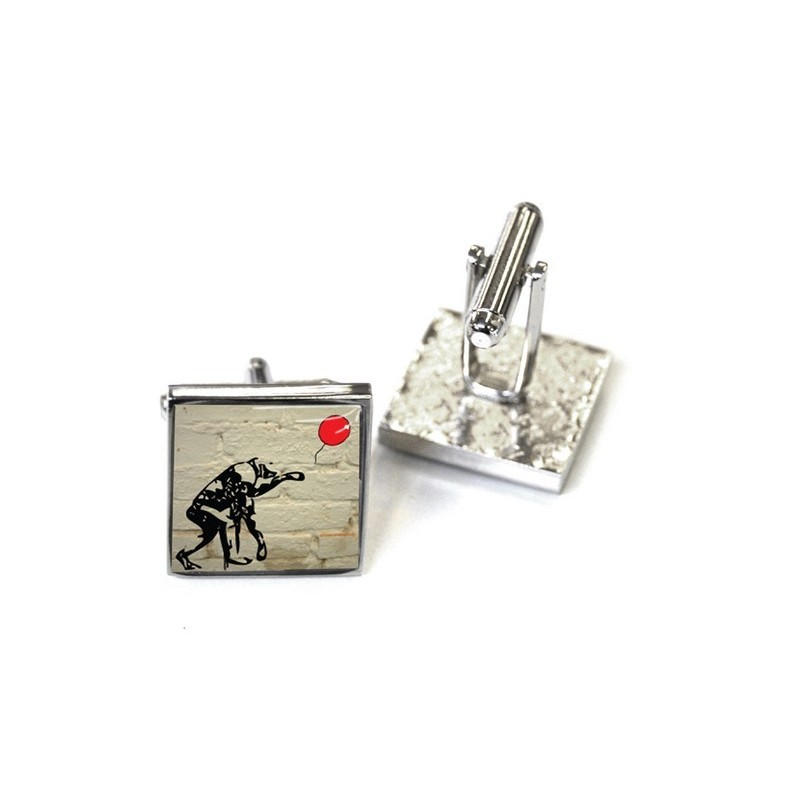 Charlie Chimp - White Brick Cufflinks