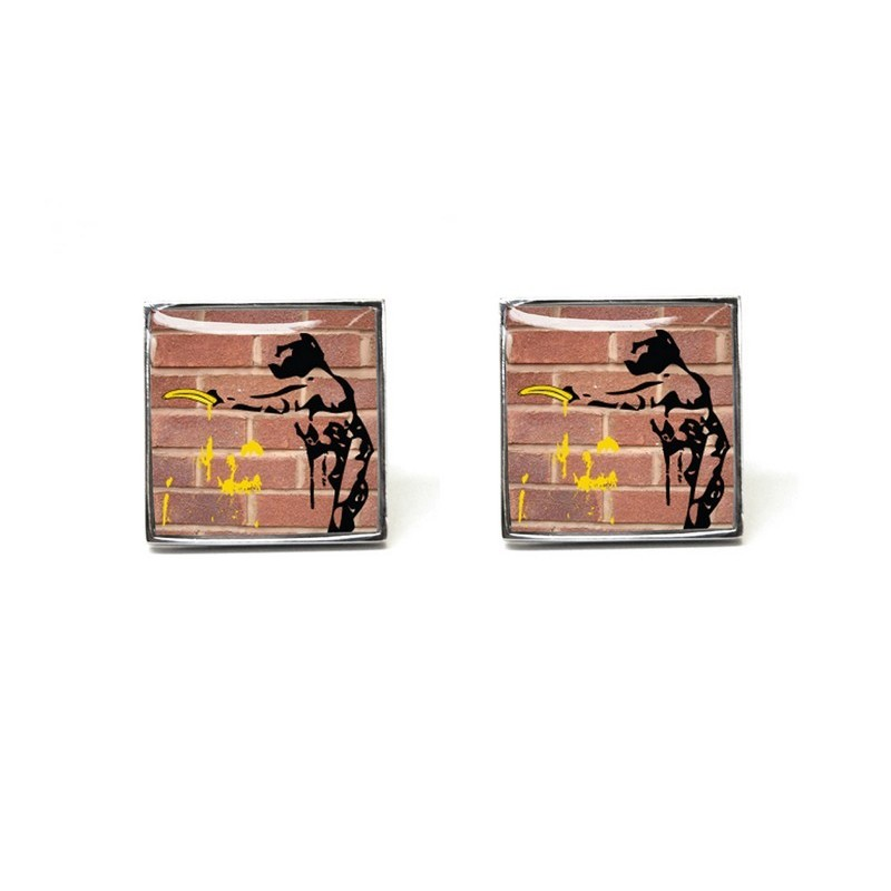 Stick Em Up - Red Brick Cufflinks