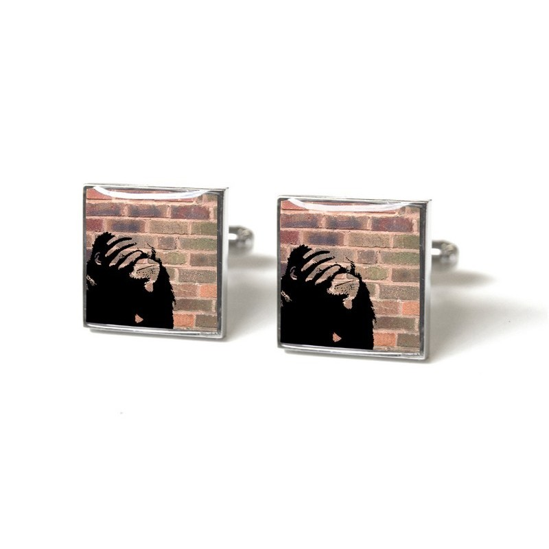 Doh - Red Brick Cufflinks