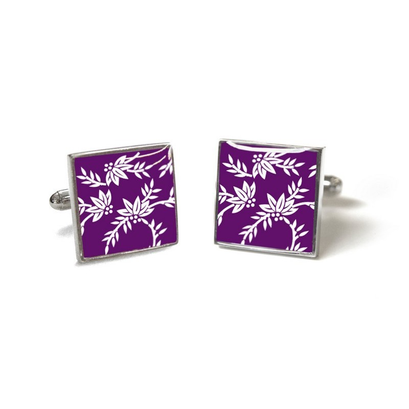 Purple Franklin Cufflinks