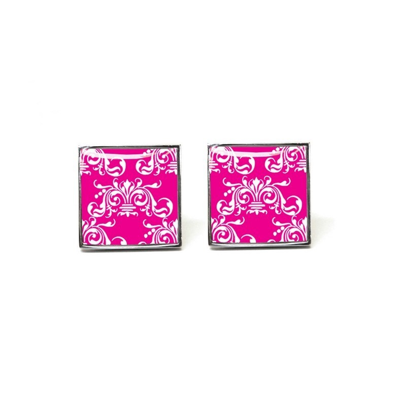 Bright Pink Clarence Cufflinks