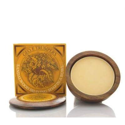 Sandalwood Shaving Soap in Wooden Bowl 80g