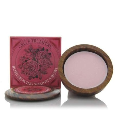 Rose Shaving Soap in Wooden Bowl 80g