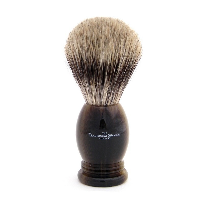 Horn Pure Badger Shaving Brush 400