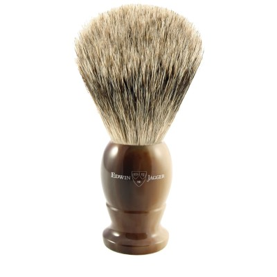 Pure Badger Shaving Brush EJ87 Light Horn - Medium