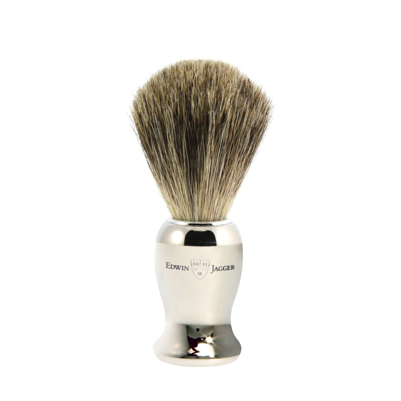 Pure Badger Shaving Brush Nickel Plated