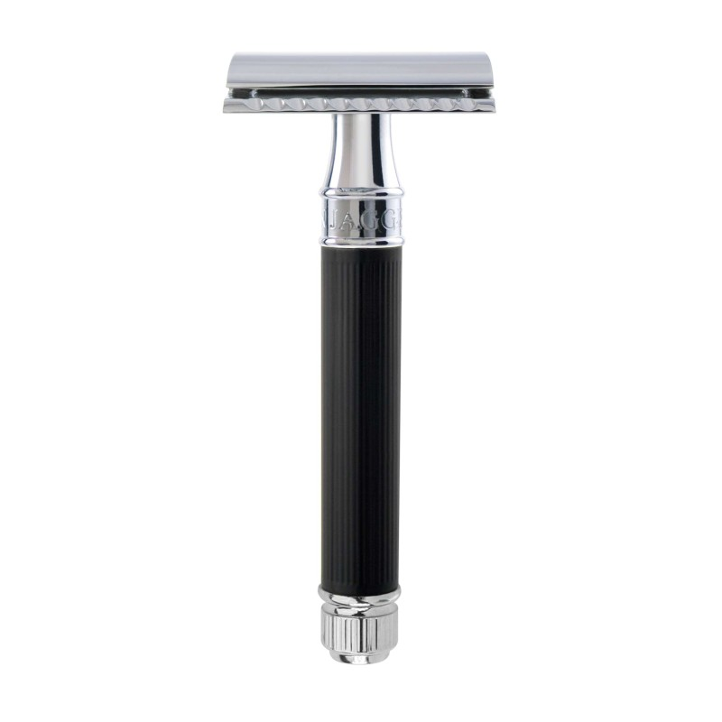 DE Razor Black Rubber Coated DE86