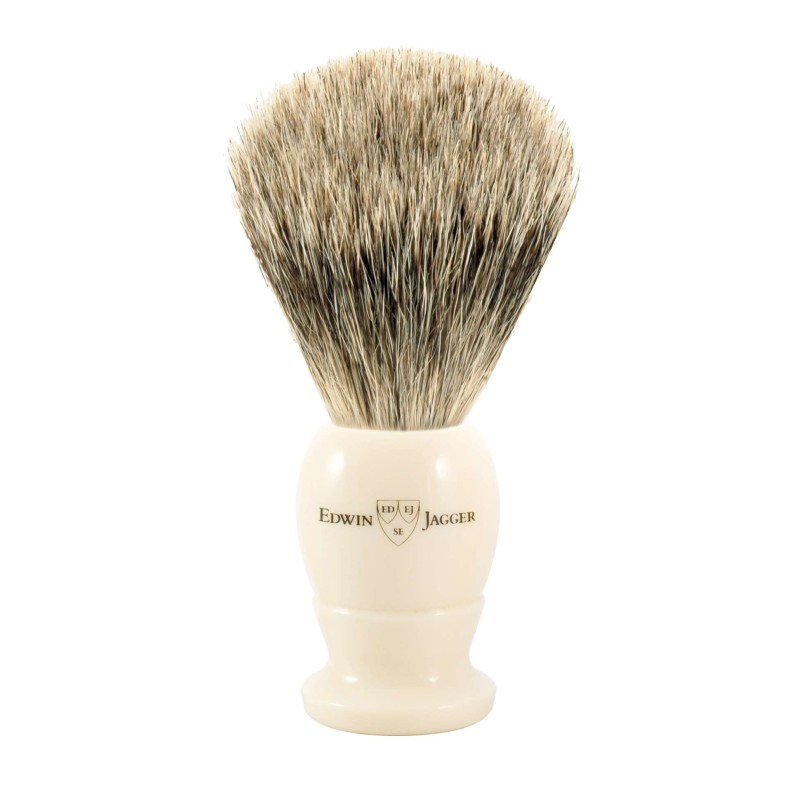 Best Badger Shaving Brush EJ87vory - Large