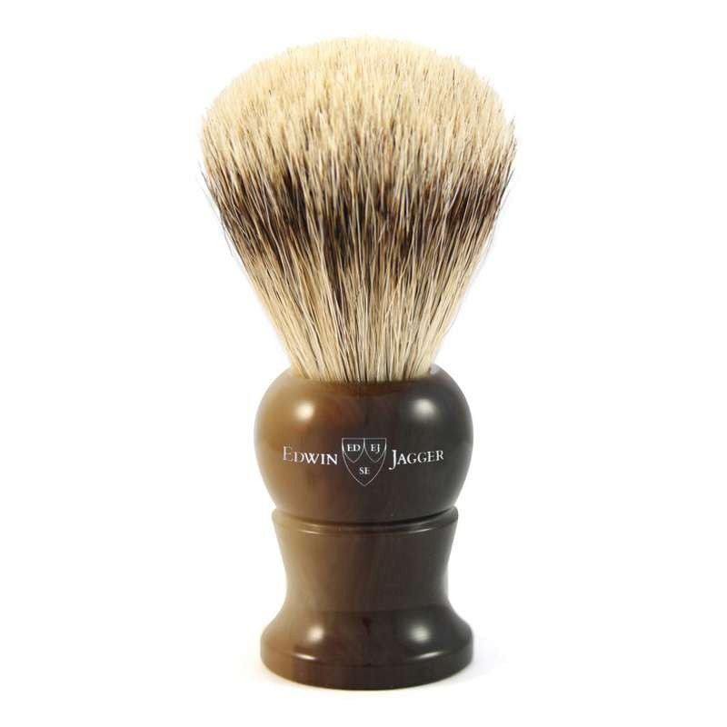 Super Badger Shaving Brush EJ28 Light Horn - Small