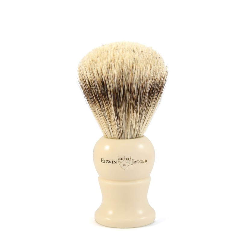 Super Badger Shaving Brush EJ28 Ivory - Small