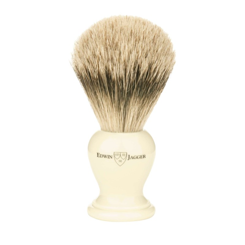 Super Badger Shaving Brush EJ36 Ivory - Small