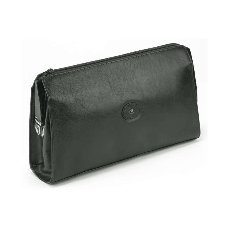 Black Leather Wash Bag 77040
