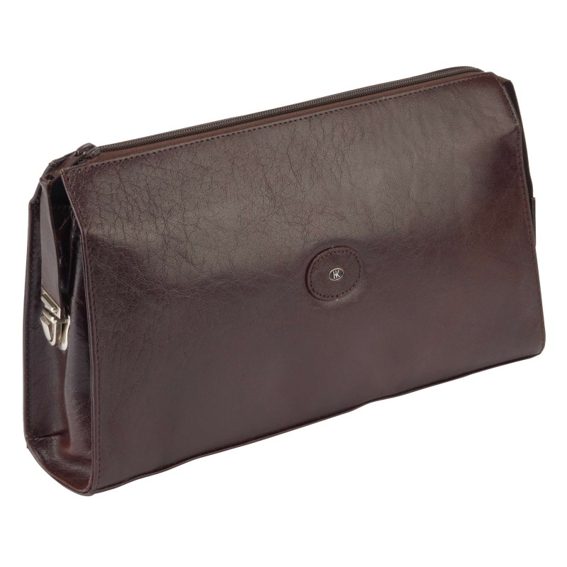 Brown Leather Wash Bag 77040