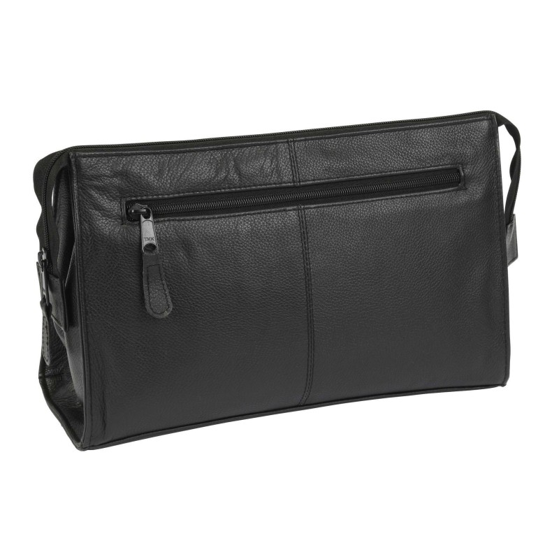 Black Leather Wash Bag 77730