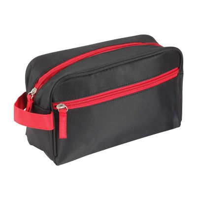 Black Wash Bag With Red Trim B9237