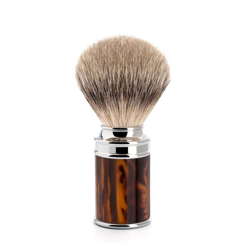 Traditional Tortoiseshell Silvertip Badger Shaving Brush 091M108