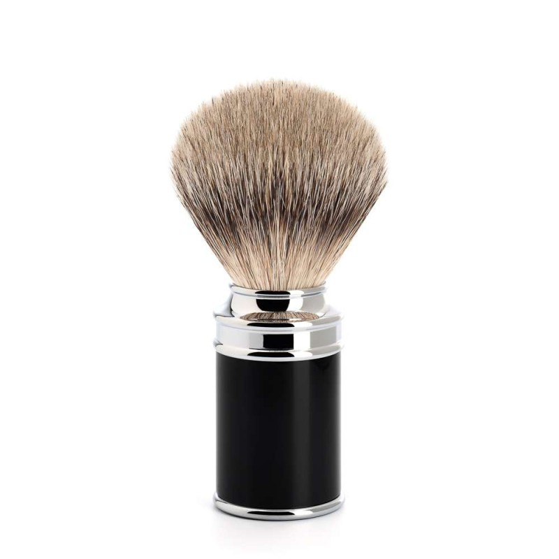Traditional Black Silvertip Badger Shaving Brush 091M106