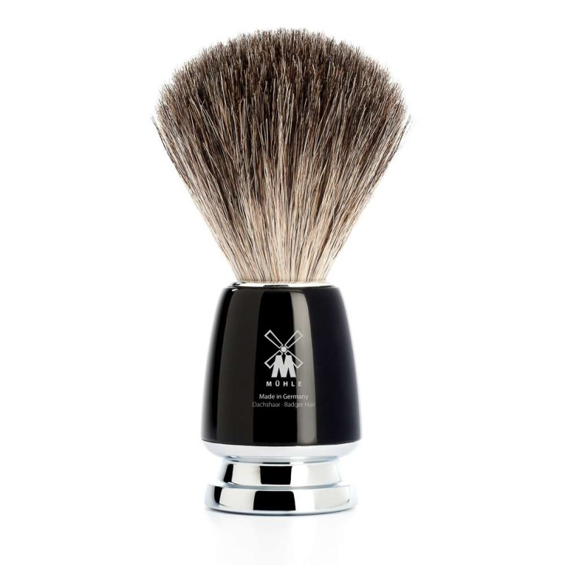 Rytmo Black Pure Badger Shaving Brush 81M226