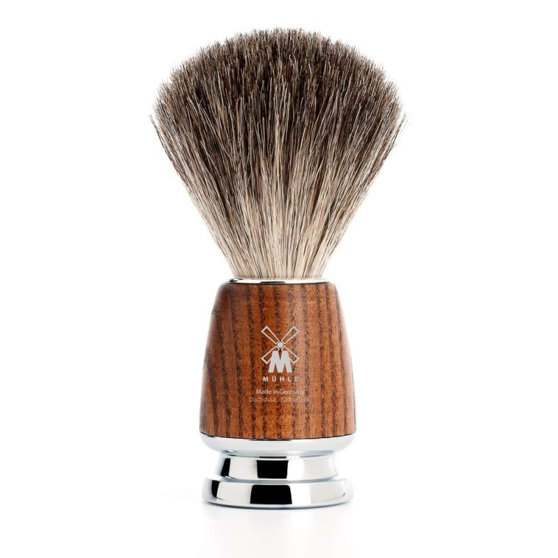 Rytmo Steamed Ash Pure Badger Shaving Brush 81H220