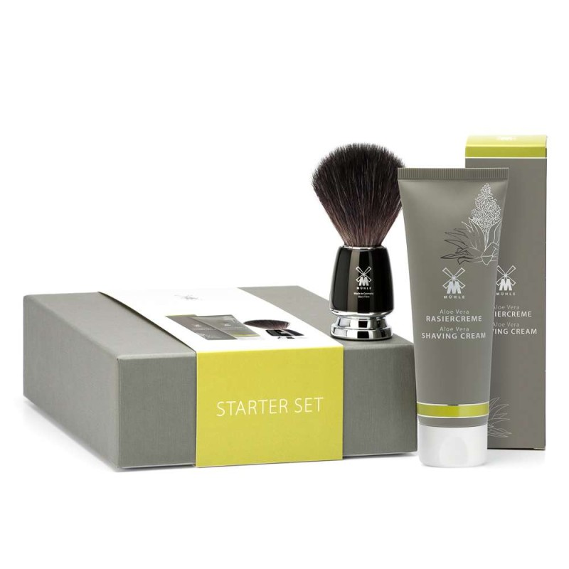 Aloe Vera Shaving Cream And Shaving Brush Gift Set