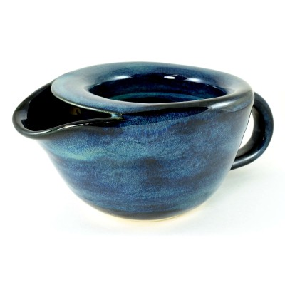 Midnight Blue Shaving Scuttle