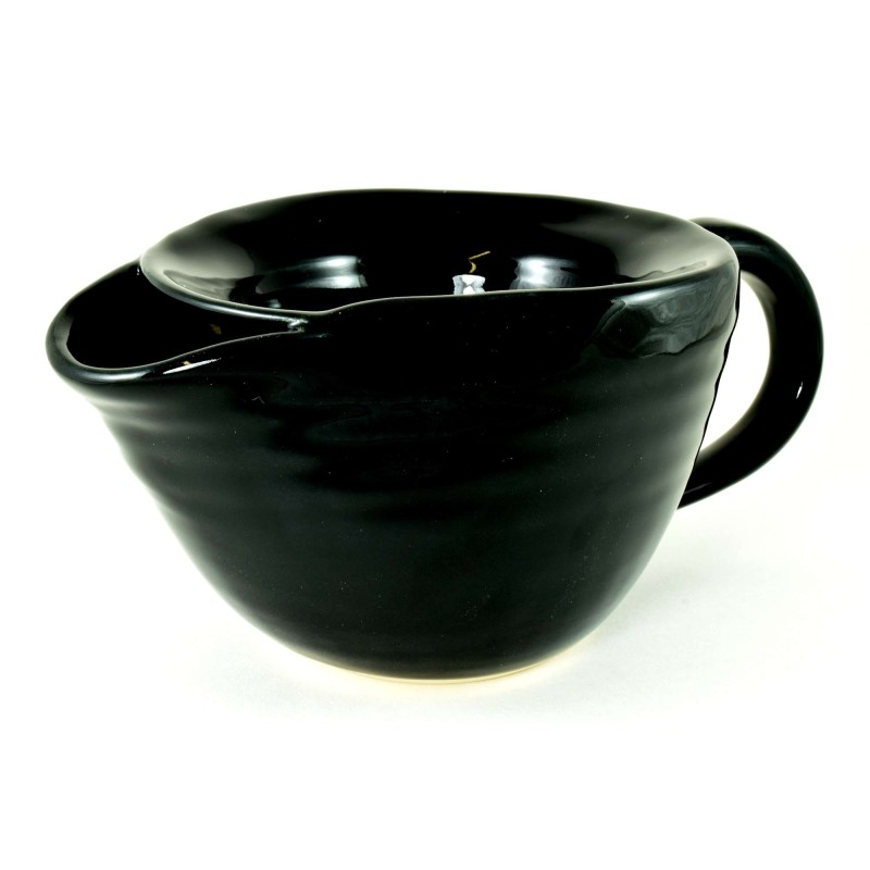 Ebony Shaving Scuttle