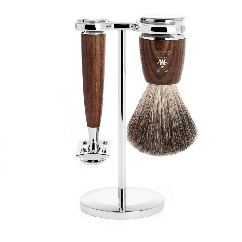 Steamed Ash Rytmo 3 Piece Shaving Set