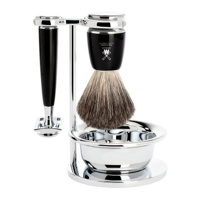 Black Rytmo 4 Piece Shaving Set
