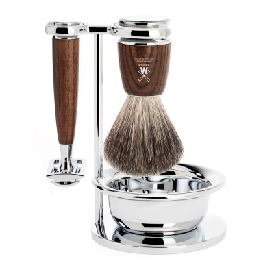 Steamed Ash Rytmo 4 Piece Shaving Set