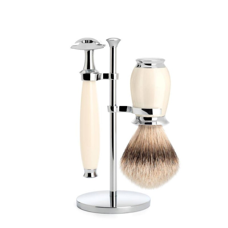 Ivory Purist 3 Piece Silvertip Shaving Set