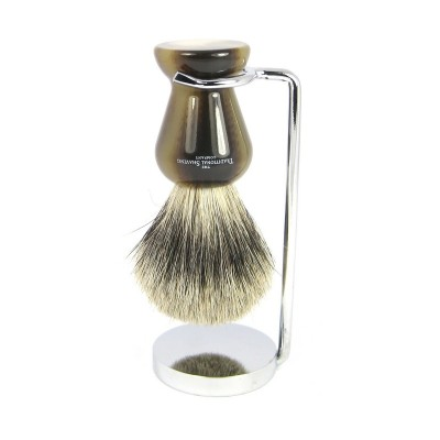 Compact Chrome Stand For Shaving Brush