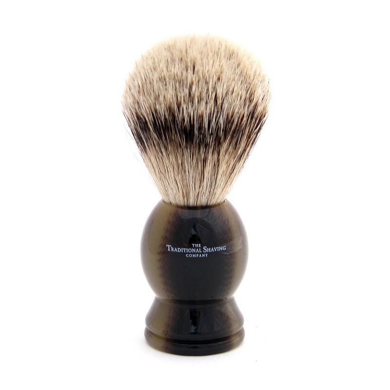 Horn Silver Tip Badger Shaving Brush 100